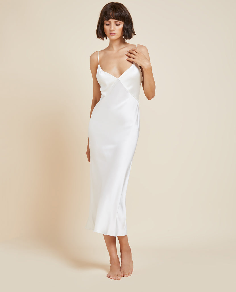 Issa Ivory Silk Slip Dress