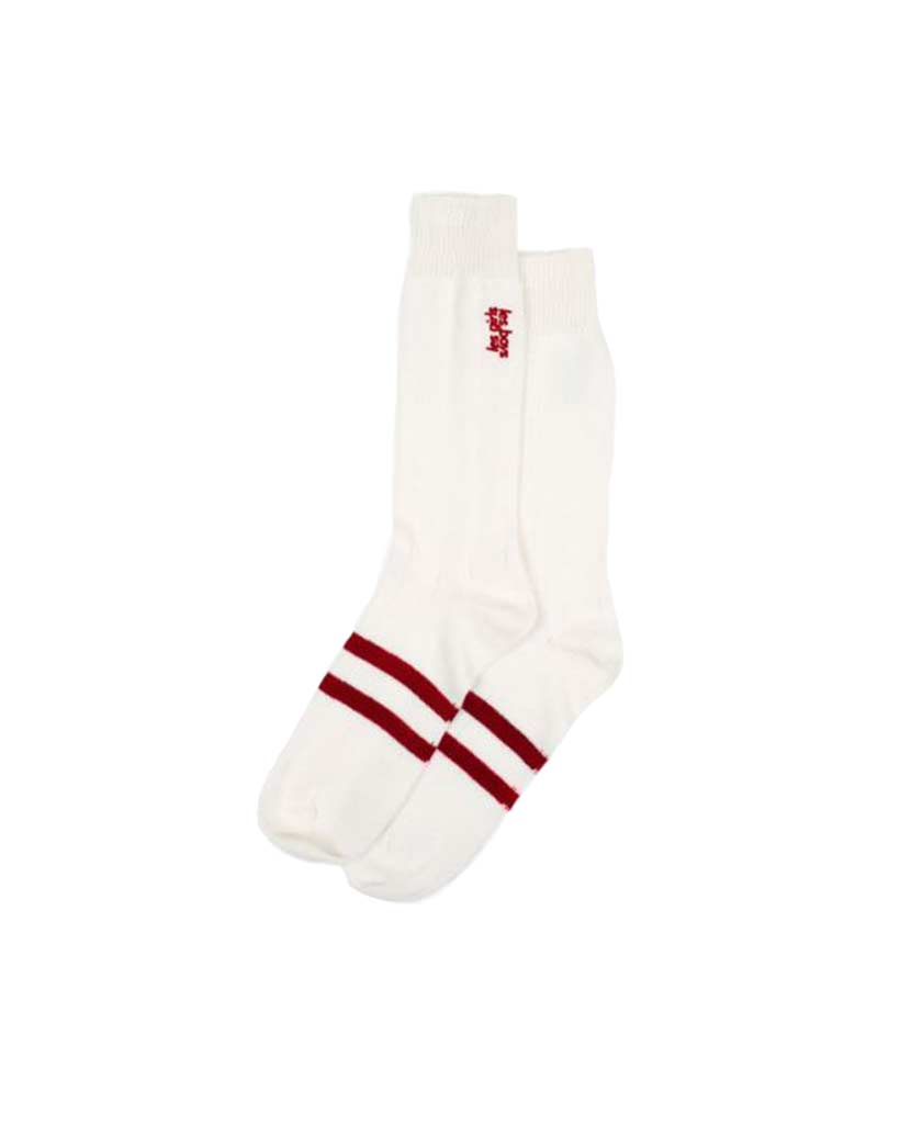 Embroidered Logo Stripe Socks