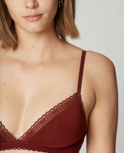 Rust Triangle Bra