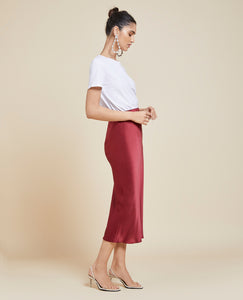 Isla Port Silk Slip Skirt