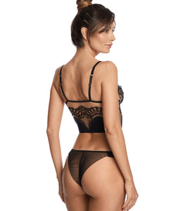 Questa Sera Embroidered Demibustier Bra