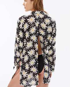 Graphic Daisy Button-Down Shirt