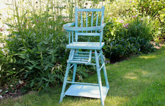 Blue Vintage French High Chair