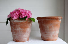 SOLD - Two Large Terracotta Pots