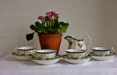 Victorian Rose Tea Set and Milk Jug
