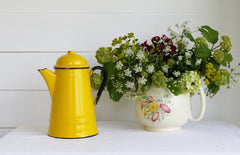 Sorry SOLD, SOLD, SOLD Enamel Coffee Pot - Yellow