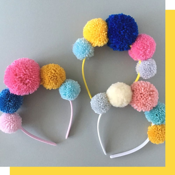 frida pom pom crowns