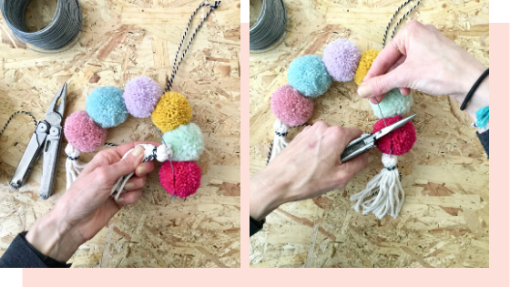 how to make a pom pom rainbow