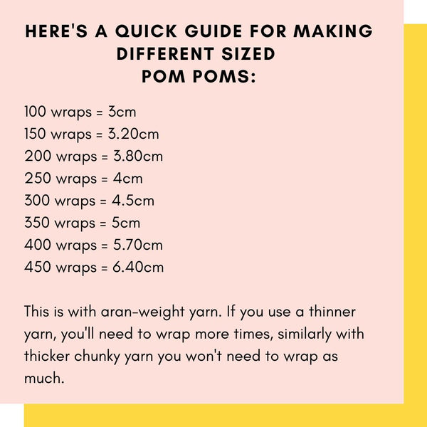 how to make different sized pom poms