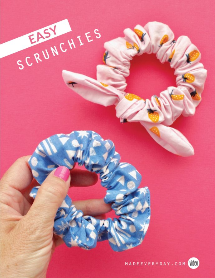 How to make a scrunchies