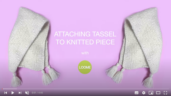 How to attach tassels to your knitwear