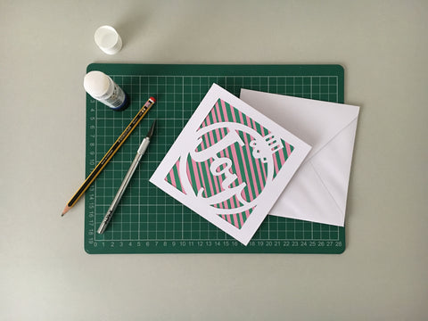 Free template joy christmas paper cut card