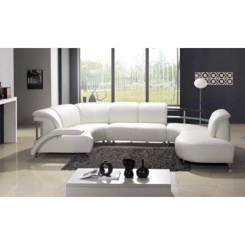 Ultra stylish and contemporary modern white Leather sectional sofa- Online Furniture Store