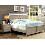 Queen Bedroom solid wood Set 2 Piece, (Silver)