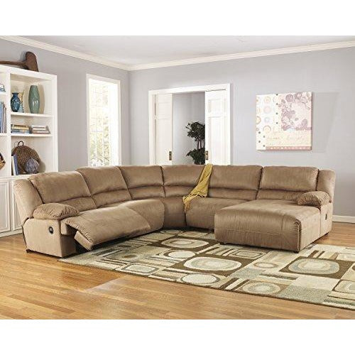Microfiber Sectional Sofa plush comfort and stylish contemporary design (Mocha Color)- Online Furniture Store