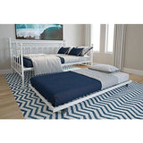 Full Size Daybed and Twin Size Trundle, Multifunctional, White