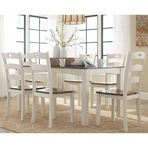 Woodanville Dining Room Table Set - Set of 7 - Dining Table and 6 Chairs- Online Furniture Store