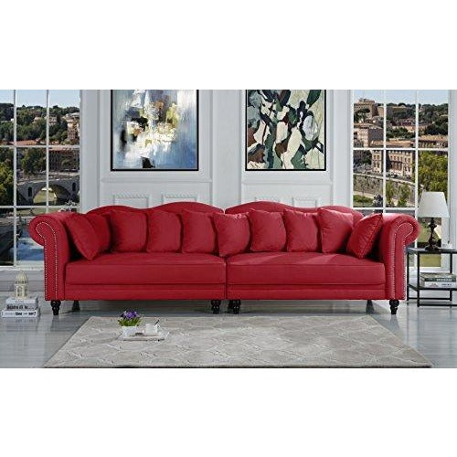 Chesterfield Scroll Arm Large Living Room Sofa- Online Furniture Store