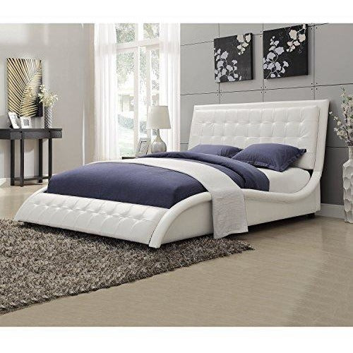 Coaster Home Furnishings Transitional Bed, Queen, White- Online Furniture Store