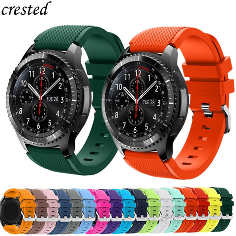 Gear s3 Frontier band for Samsung Galaxy Watch 46mm/42mm/Active strap 20/22mm silicone bracelet Huawei watch GT strap S2 3 46 42
