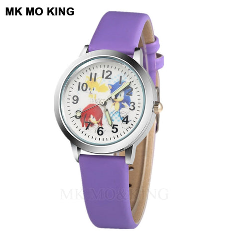 luxury role Luminous Anime Cartoon Elf Sport Cute children's boys girls kids Quartz wrist watch Clock gifts bracelet snokeable