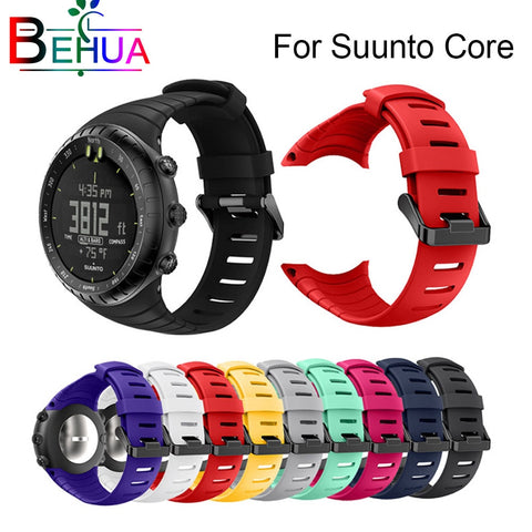 Brand new and high quality silicone watch strap For Suunto Core replace watch band wristband watch belt  watch accessories