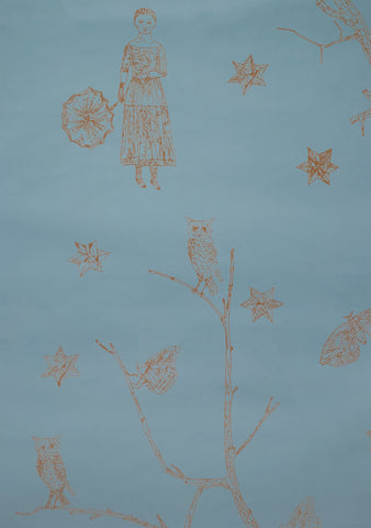 MAIDEN AND MOONFLOWER, by Kiki Smith
