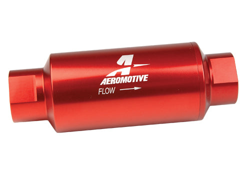 Aeromotive 10 Micron In Line Fuel Filter Red