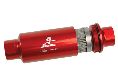 Aeromotive 40 Micron Fuel Filter Red