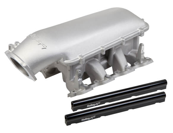 Holley LS1 LS2 Mid-Rise 105mm EFI Intake Manifold Satin
