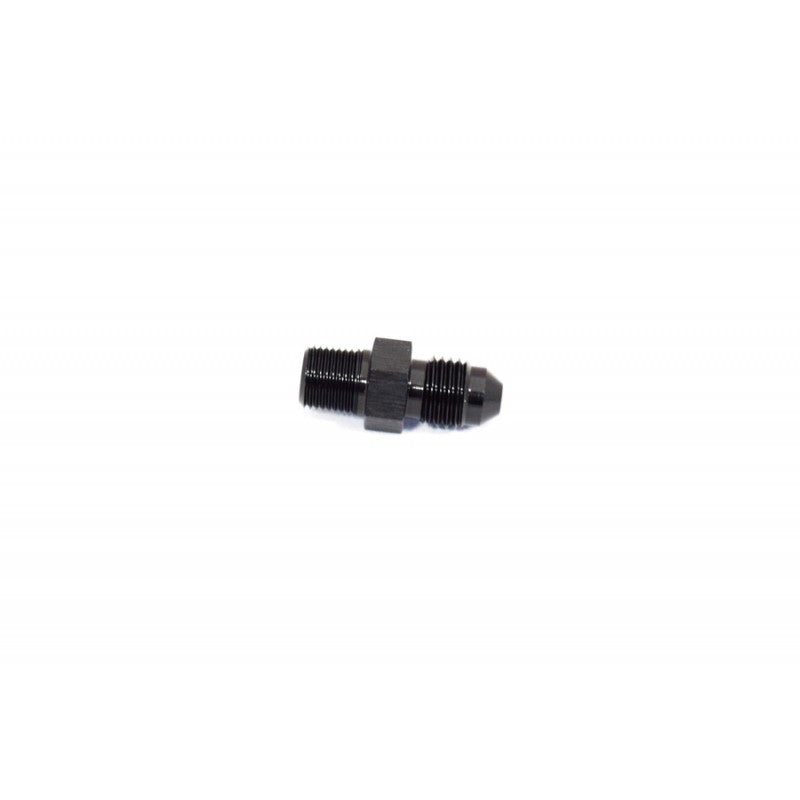 "BTR AN to NPT Adapter Fitting -4AN to 1/8"" NPT Black"