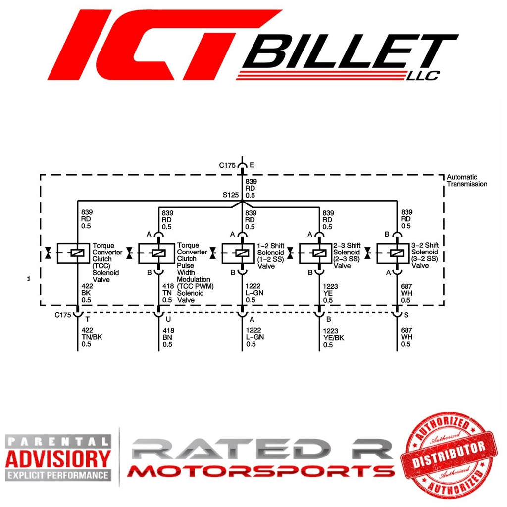 ICT Billet 4L60E 4L65E 4L70E Transmission Wire Connector Harness Pigtail