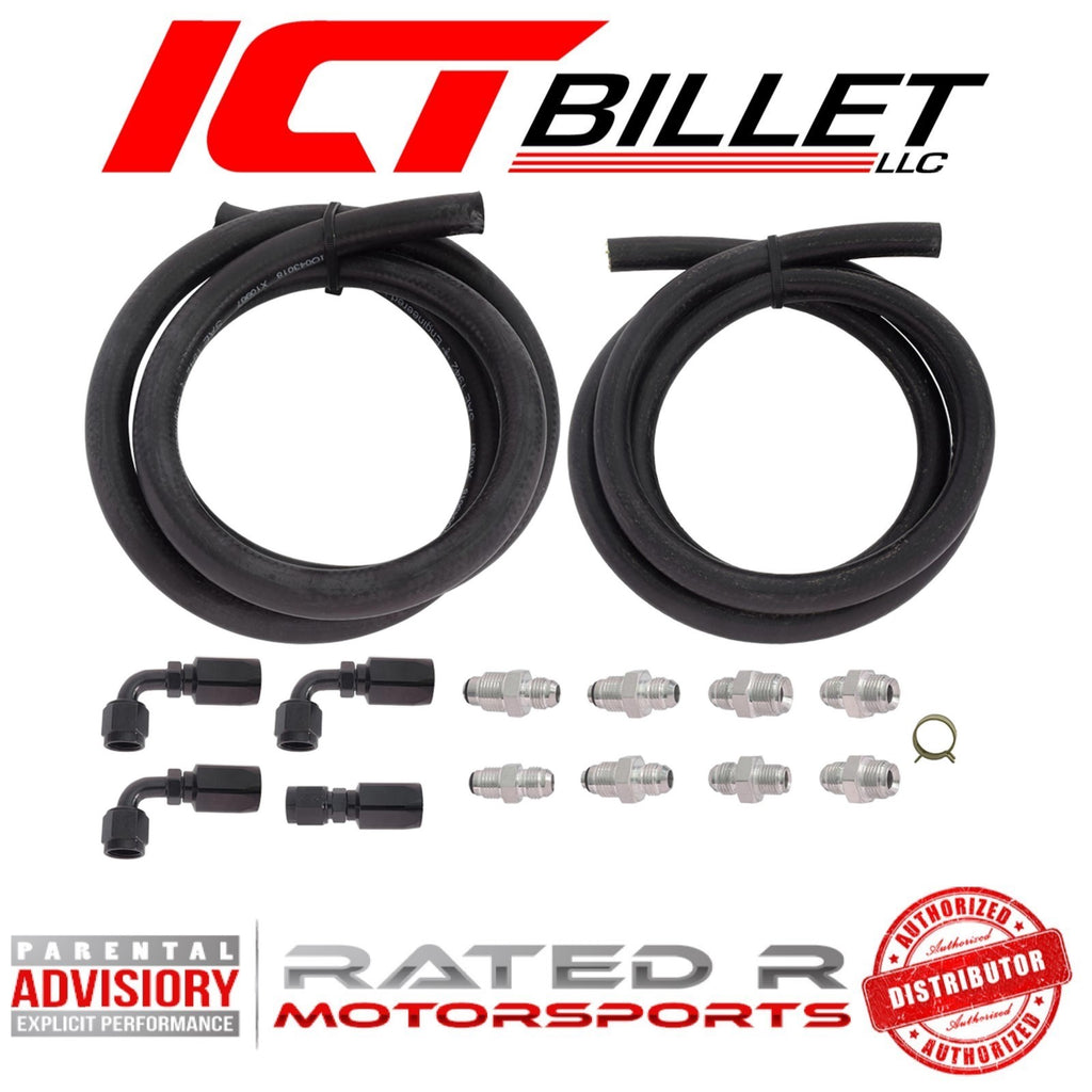 ICT Billet Universal Power Steering Pump Hose Kit