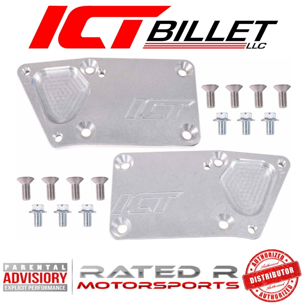 ICT Billet Heavy Duty SBC to LS Swap OEM Position Engine Mount Adapter