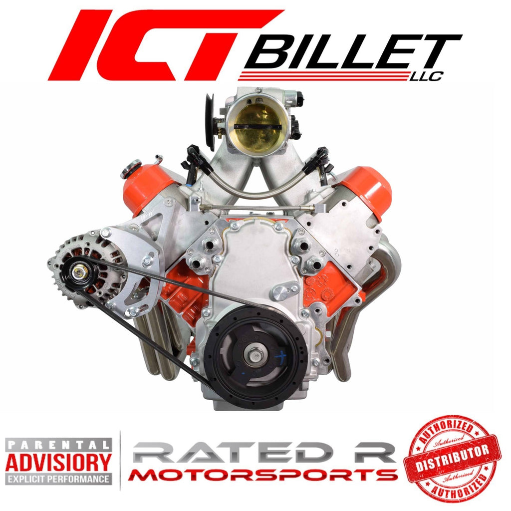 ICT Billet LS Corvette Spacing HD Alternator Passenger Side Bracket Remote Water Pump