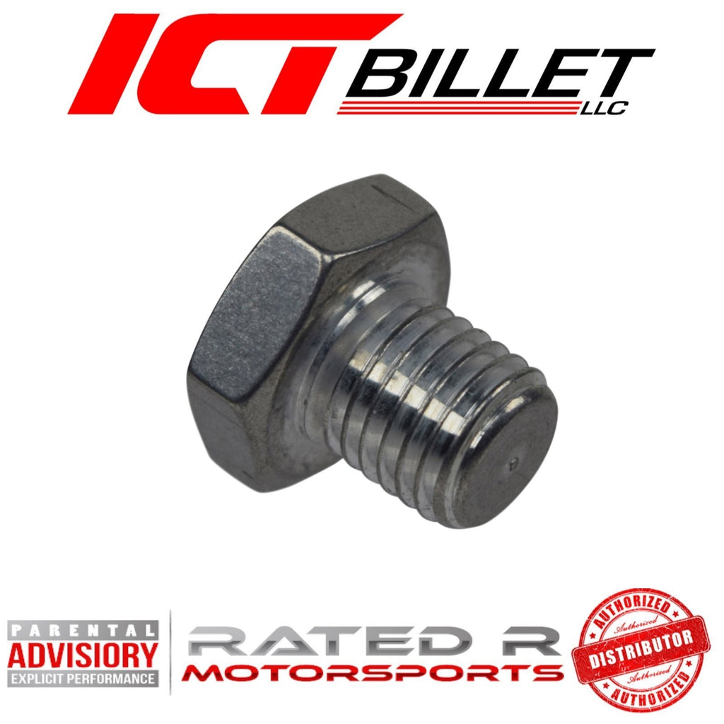 ICT Billet LS Cylinder Head Plug for Coolant Temperature Sensor Hole M12-1.5
