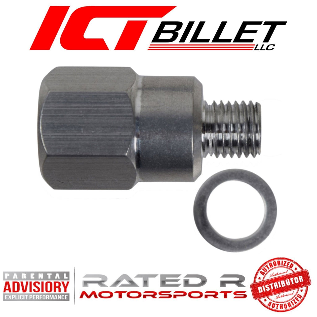 ICT Billet M12 1.5 to 1/8 NPT Coolant Temperature Sensor Adapter