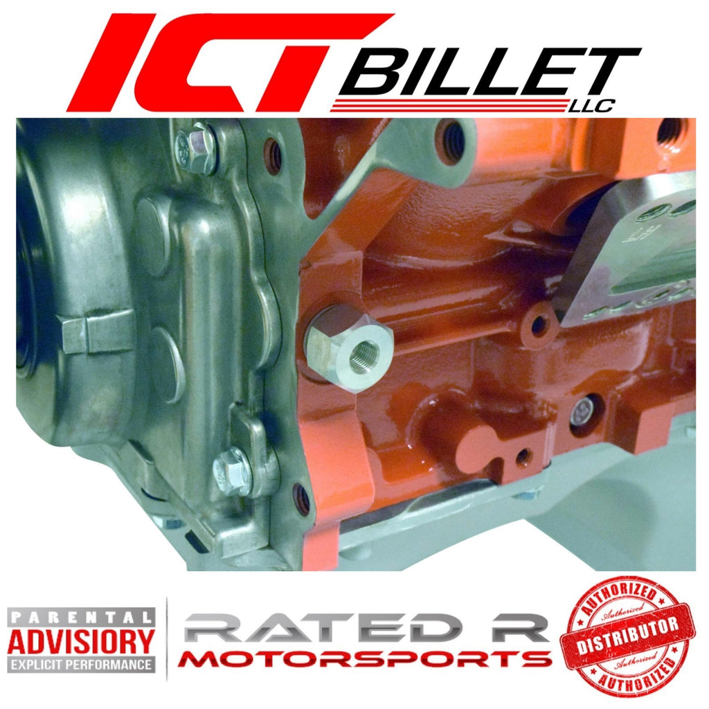 "ICT Billet LS Oil Pressure Sensor Adapter M16-1.5 to 1/8"" NPT"