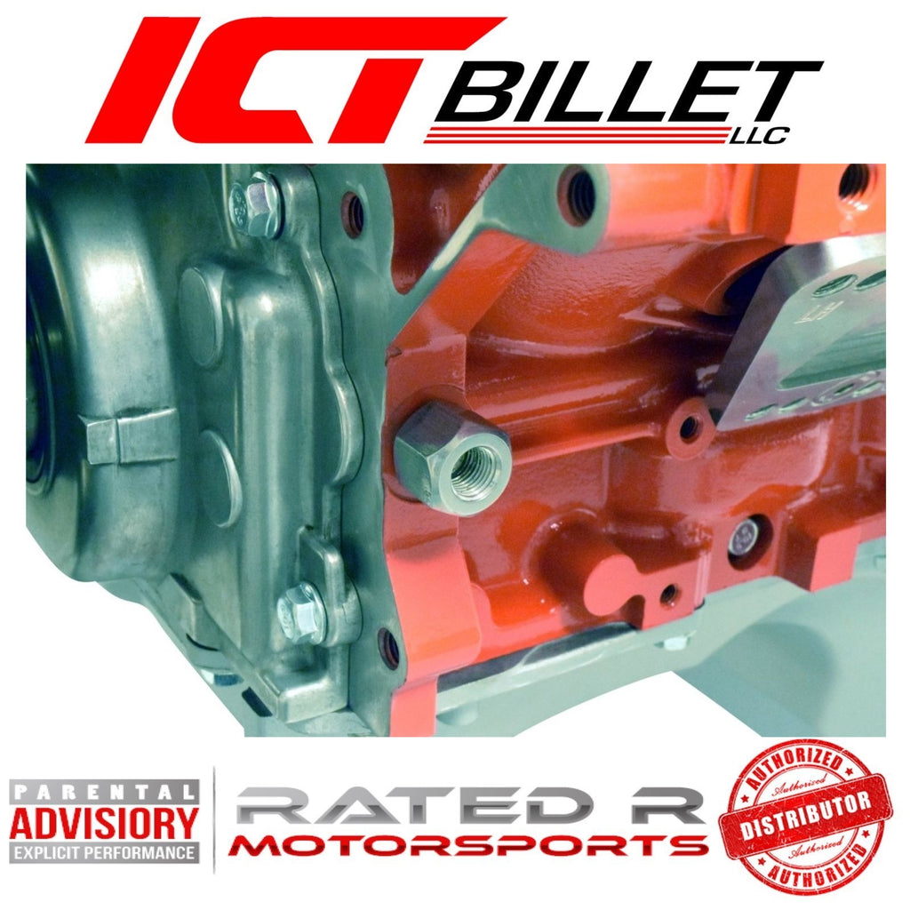 ICT Billet LS Oil Pressure Sensor Adapter M16-1.5 to M12-1.5