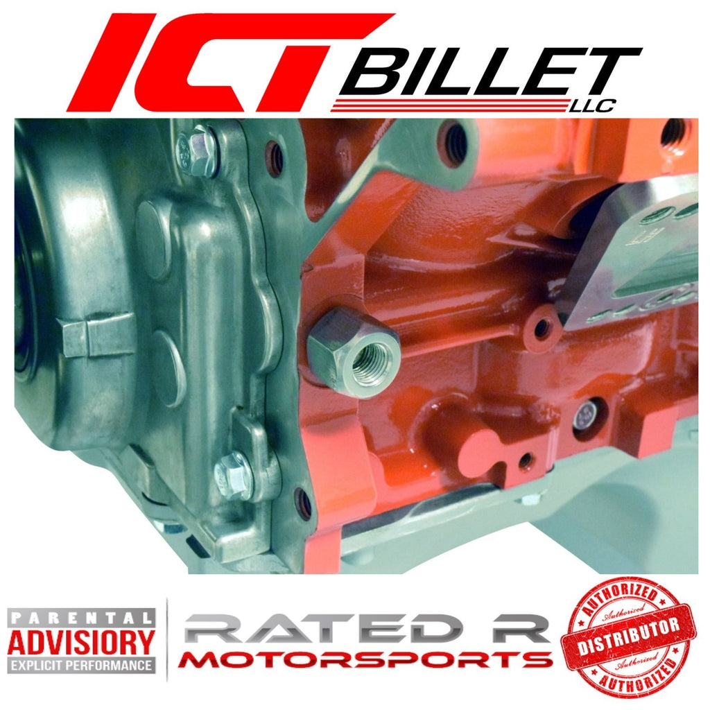 ICT Billet LS Oil Pressure Sensor Adapter M16-1.5 to M14-1.5