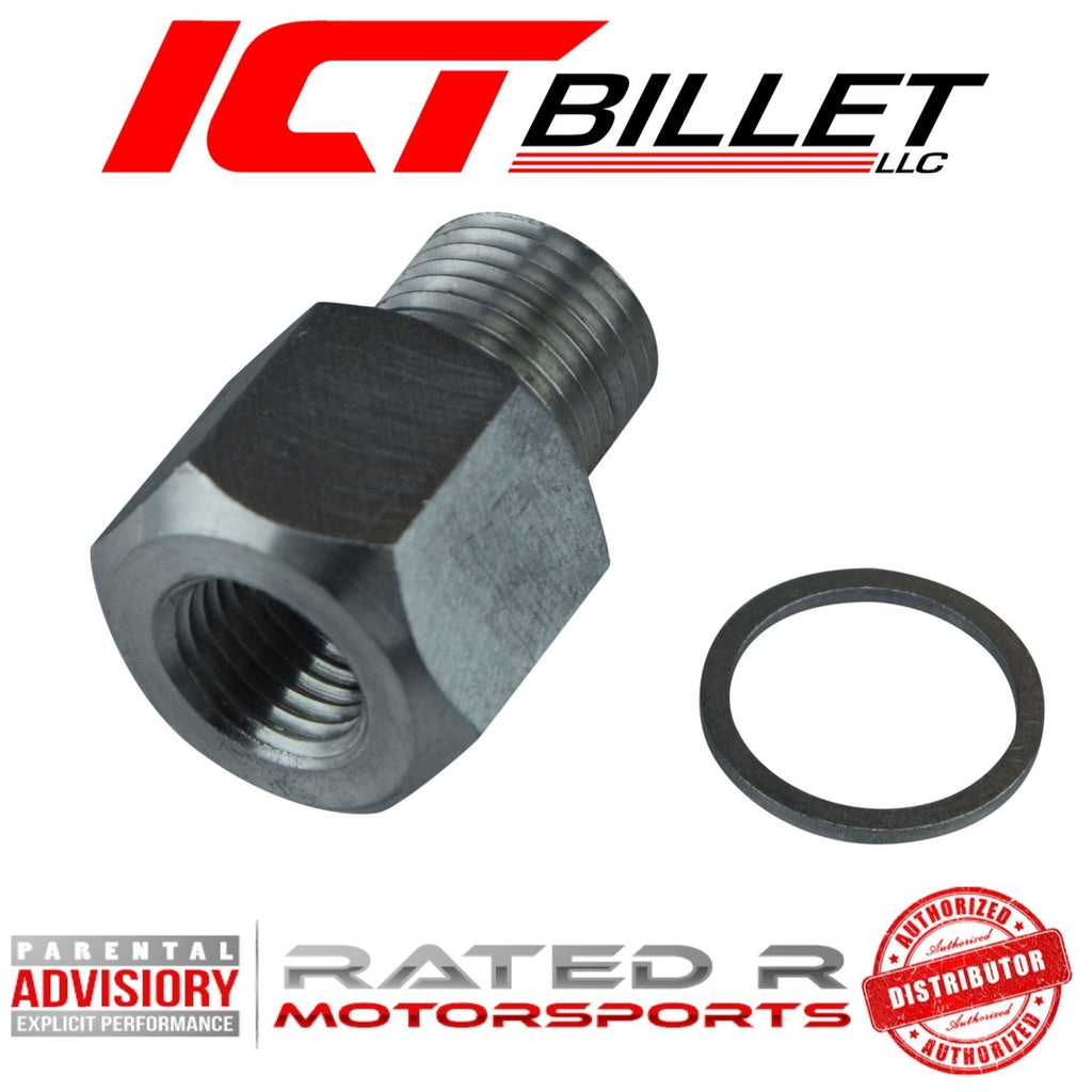 "ICT Billet LS Oil Pressure Sensor Adapter M16-1.5 to 1/4"" NPT"