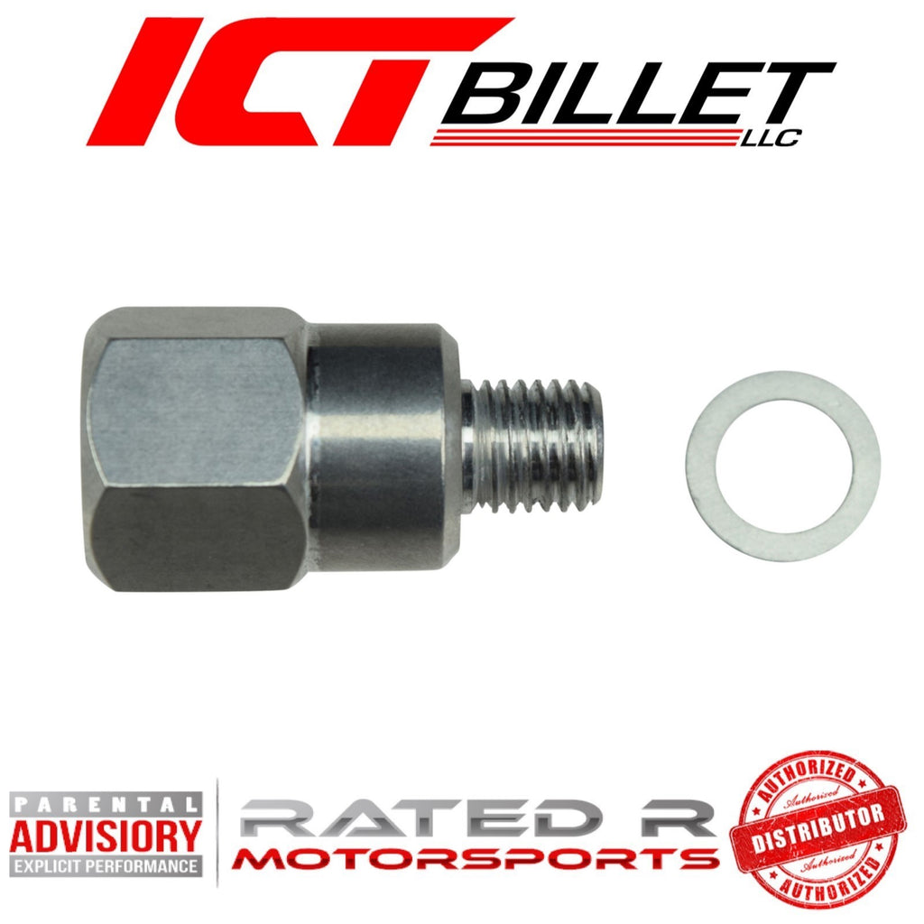 "ICT Billet Water Temperature Sensor Sending Unit Adapter M12-1.5 to Female 3/8"" NPT"
