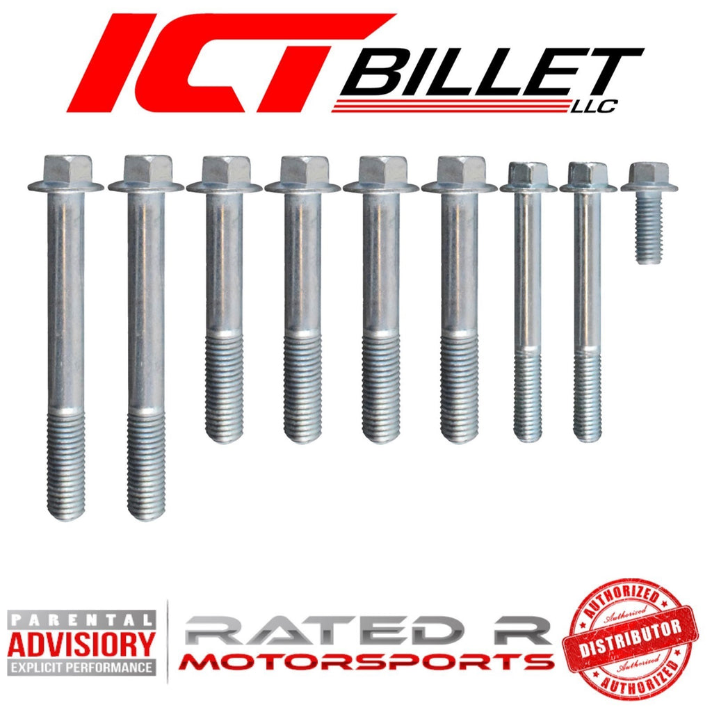 ICT Billet GM LS1 Corvette Alternator Power Steering Bracket BOLT KIT ONLY