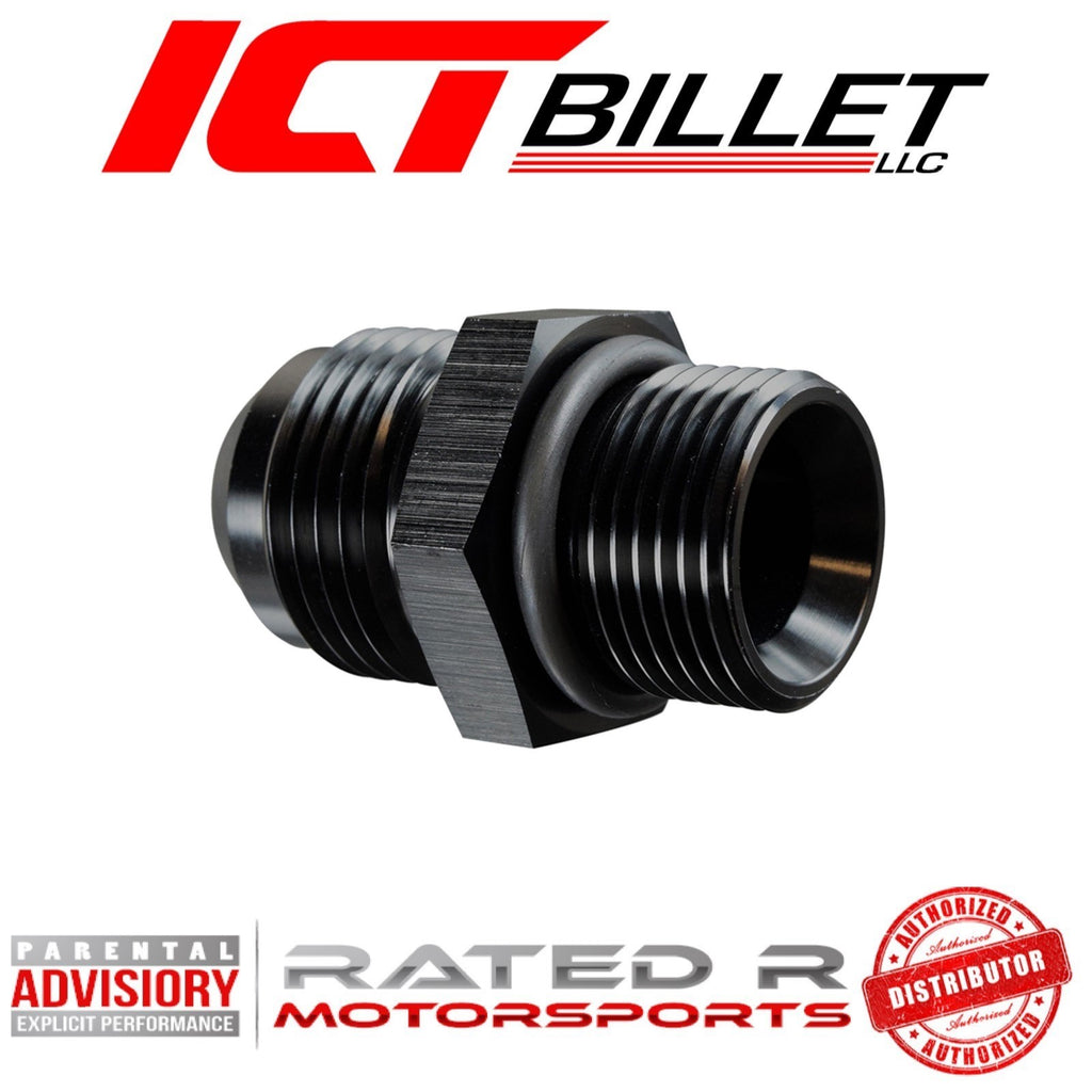 ICT Billet LS Turbo Oil Drain Pan Adapter For Low Oil Sensor Hole