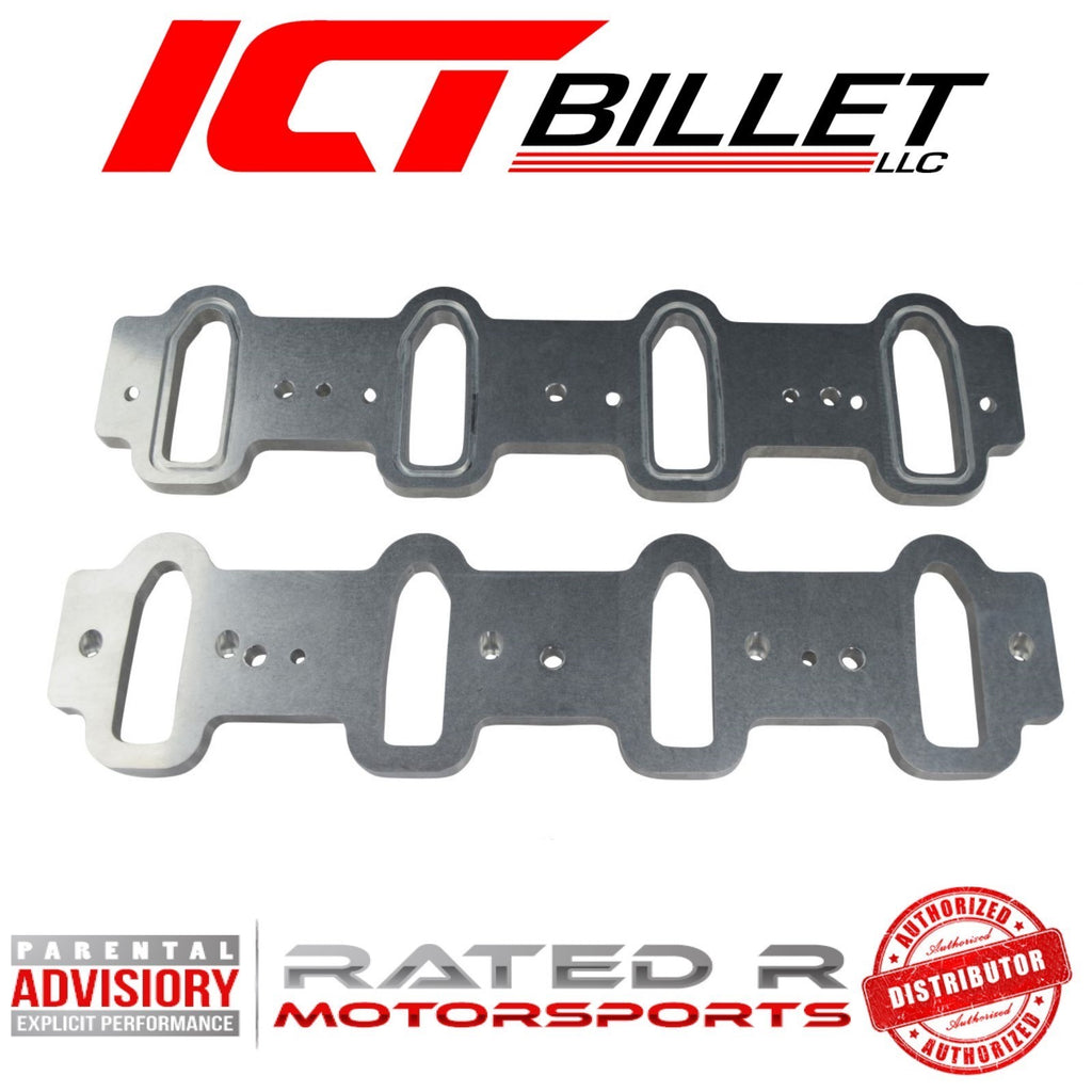 ICT Billet LS Cathedral Port Intake Manifold Weld Flanges LS1