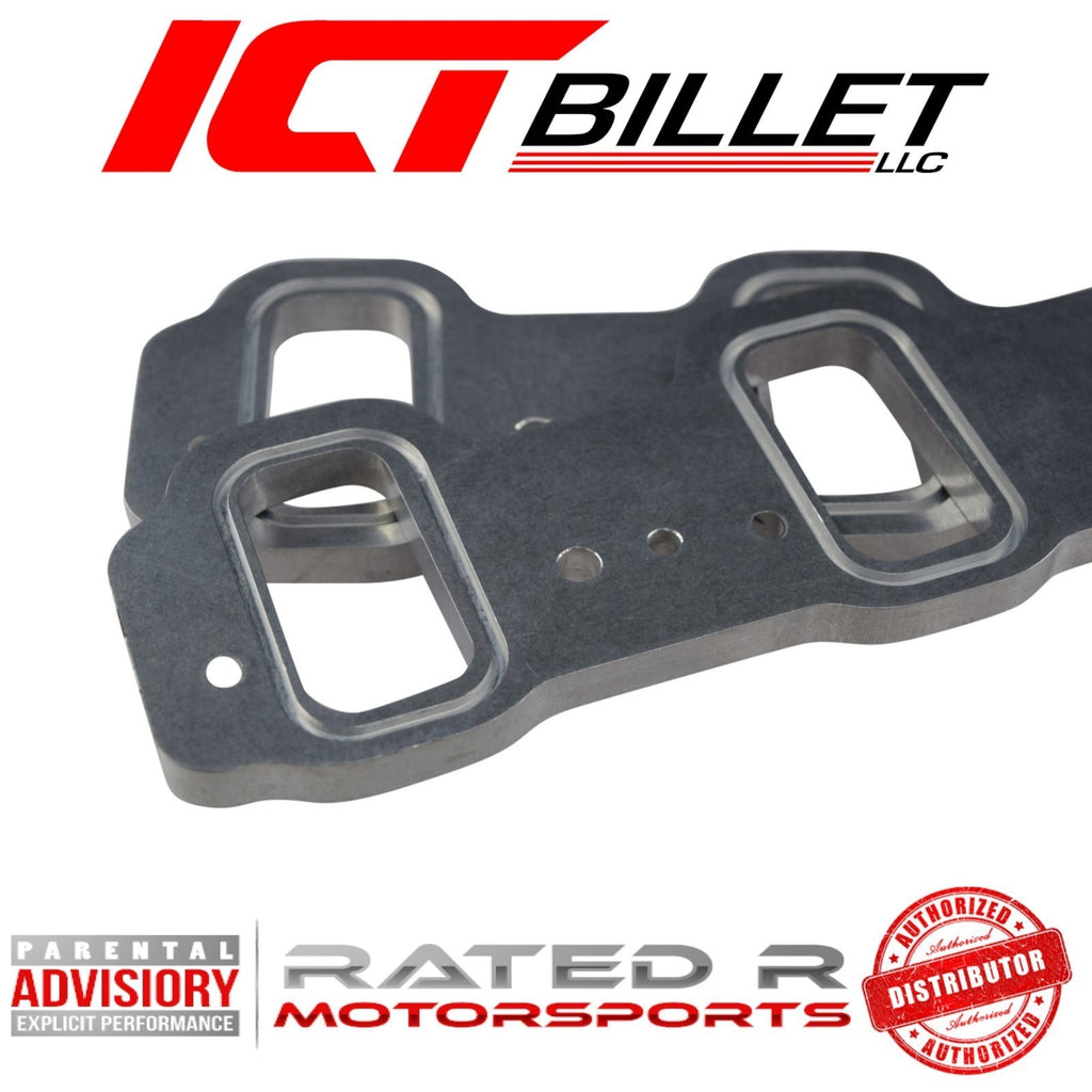 ICT Billet LS Rectangle Port Intake Manifold Weld Flanges LS3