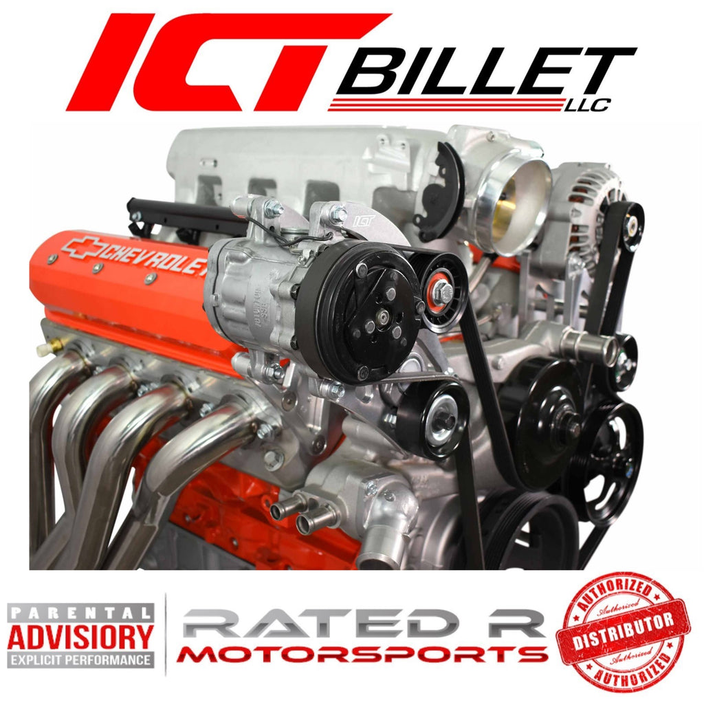 ICT Billet LS Truck Spacing Air Conditioner Compressor Bracket for Sanden 7176