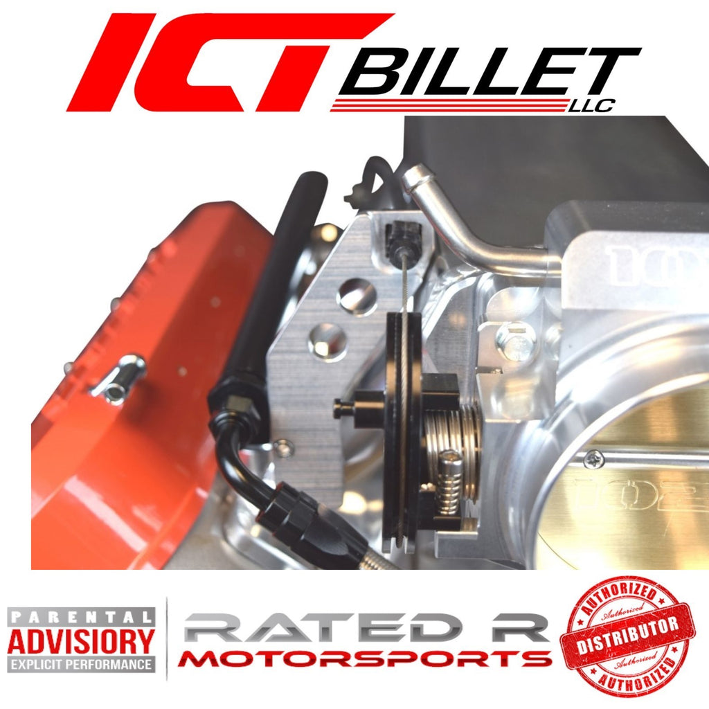 ICT Billet LS3 Throttle Cable Bracket For Sheet Metal Intake Manifold