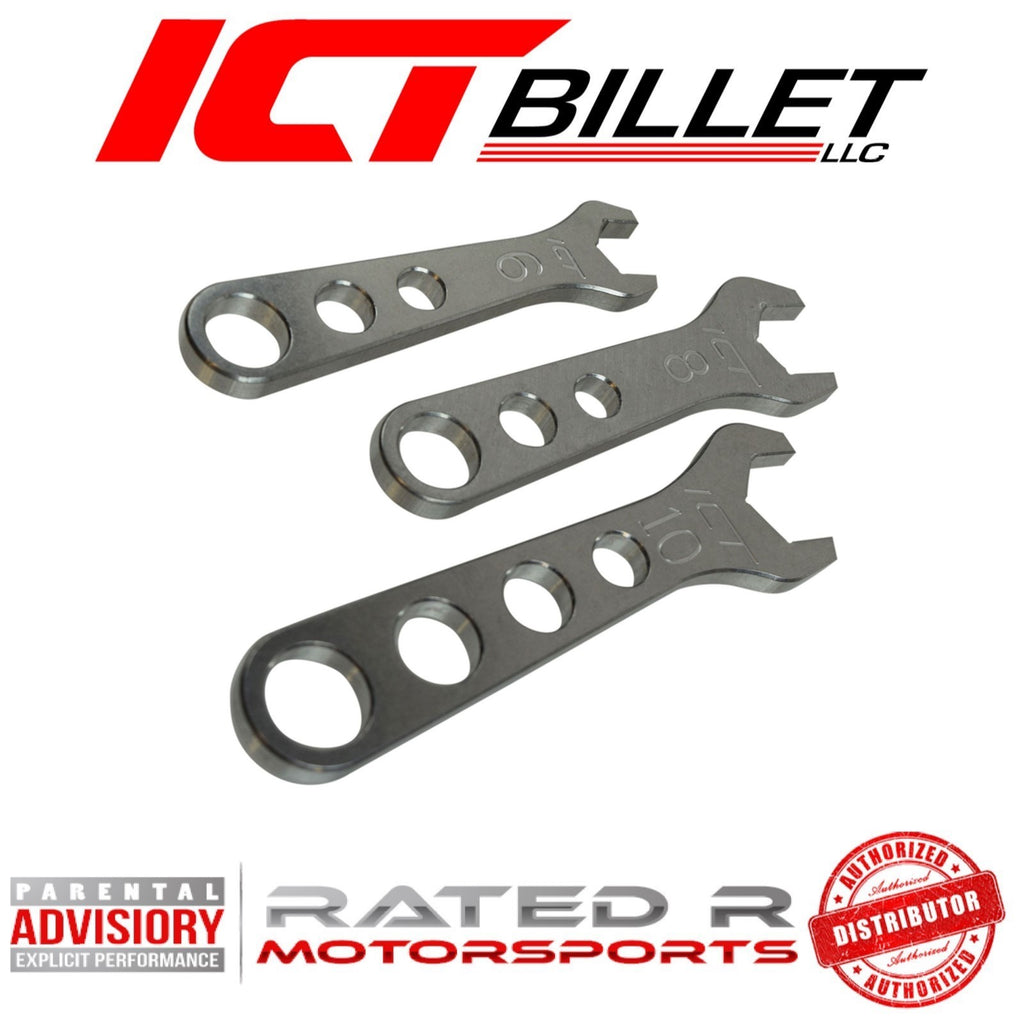 ICT Billet Aluminum AN Fitting Wrench Set 6AN 8AN 10AN Wrenches 3pc
