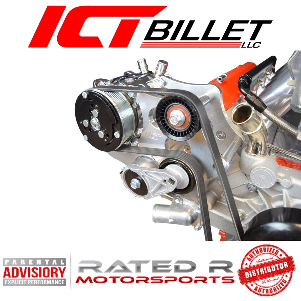 ICT Billet LS Truck Sanden 508 Heavy Duty A/C Air Conditioner Compressor Bracket Kit